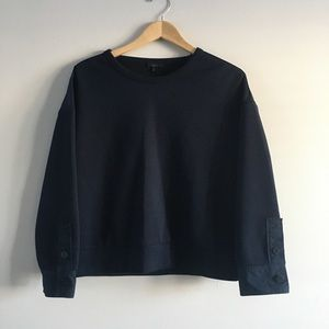 COS Crewneck with Button Sleeve Detailing